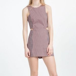 XS Zara Geometric Printed Jumpsuit Dress Romper